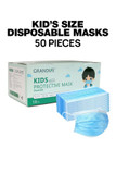 Image of packaged 50 Piece Kid's Disposable Face Masks