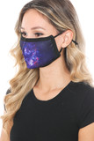 Left side view of Mystic Galaxy Graphic Print Face Mask