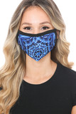 Front view of Blue Mandala Graphic Print Face Mask with a gorgeous decorative design.