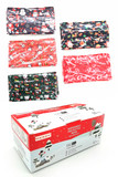Image of box of Christmas Disposable Surgical Face Mask - 50 Pack - 5 Styles shown with all 5 styles