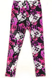 Buttery Soft Stars and Plaid Hearts Kids Leggings