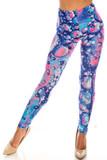 Back side image of Creamy Soft Brilliant Bubbles Leggings - USA Fashion™