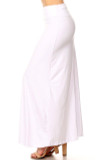 Left side image of Buttery Soft Solid White Plus Size Maxi Skirt  with a versatile design that easily blends into any style of wardrobe.