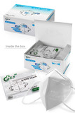 Image of packaging for 40 Pack - White KN95 Face Mask -  Individually Sealed