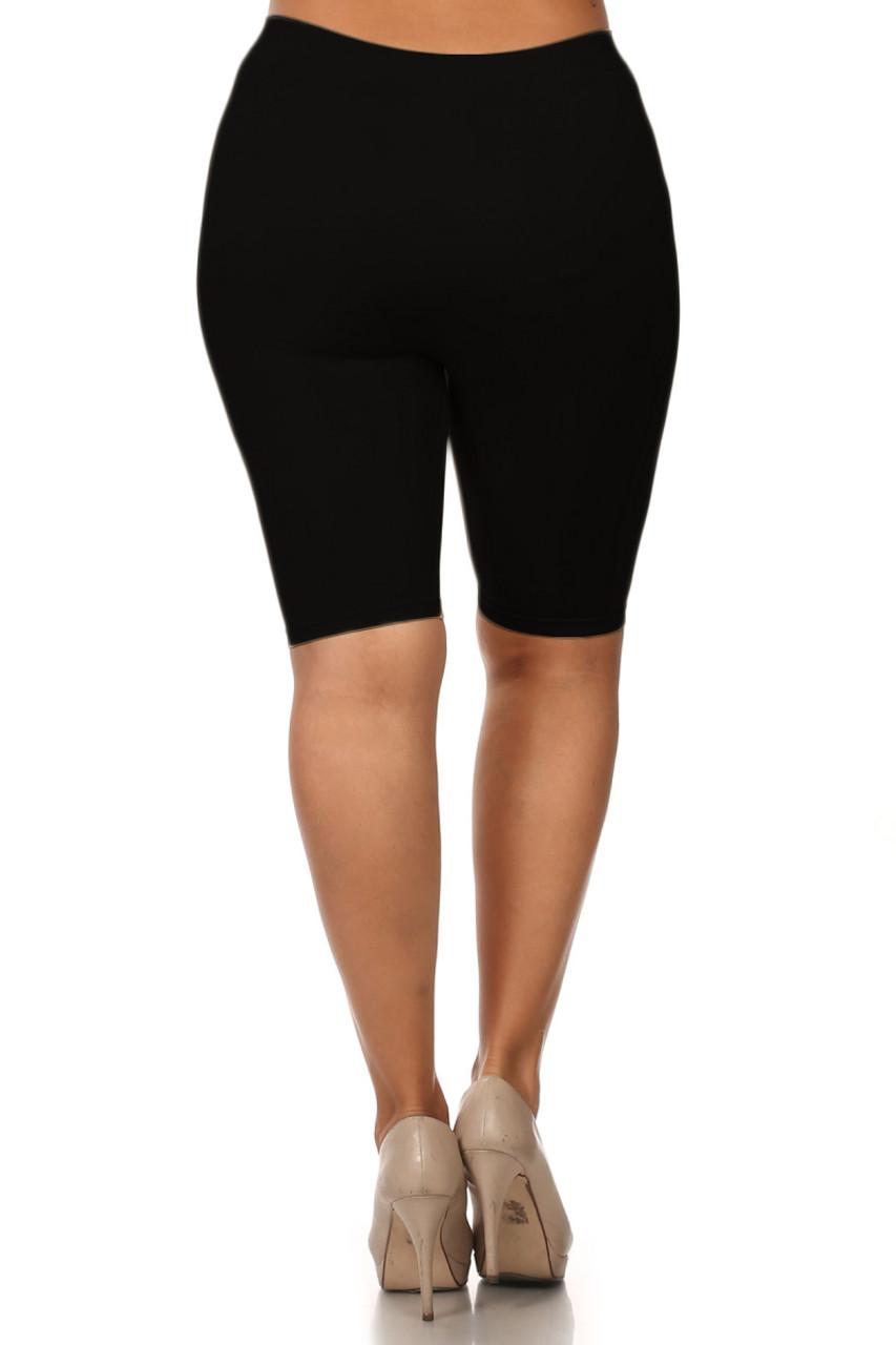 7 Inch One Size Nylon Thigh Shorts - Plus Size