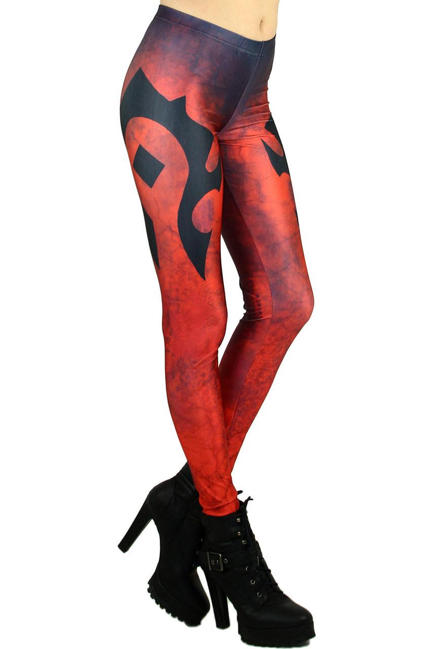 Epic Red Emblem Leggings