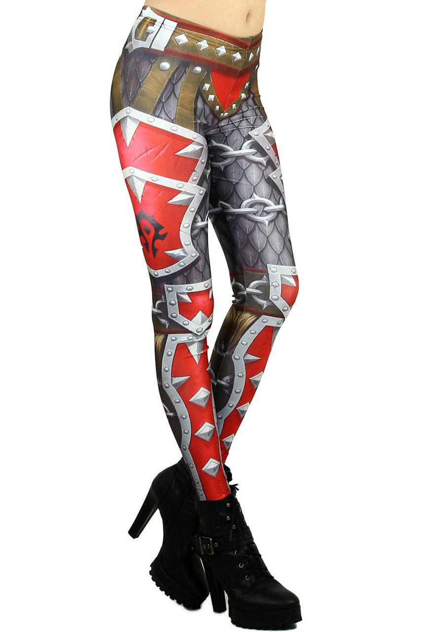 Red Steel Plate Armor Leggings