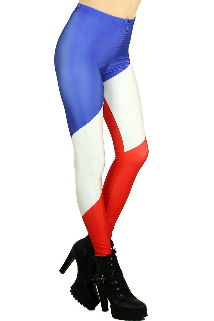 Chunky Color Cane Leggings