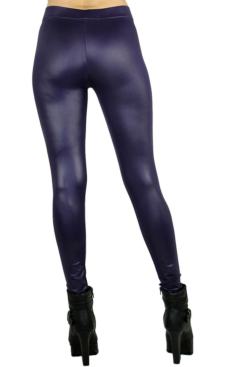Purple Matte Liquid Cotton Leggings
