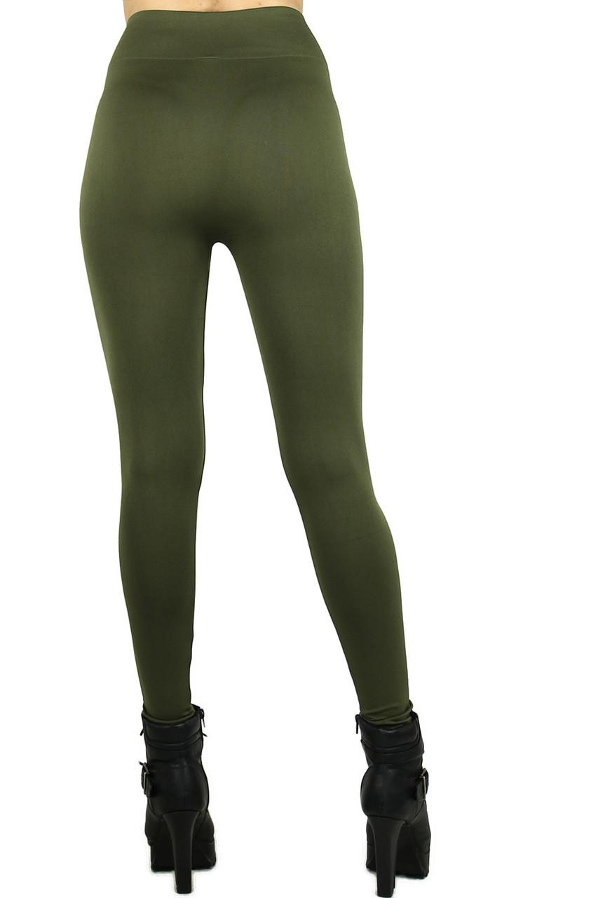 Plus Size Basic Spandex Full Length Leggings