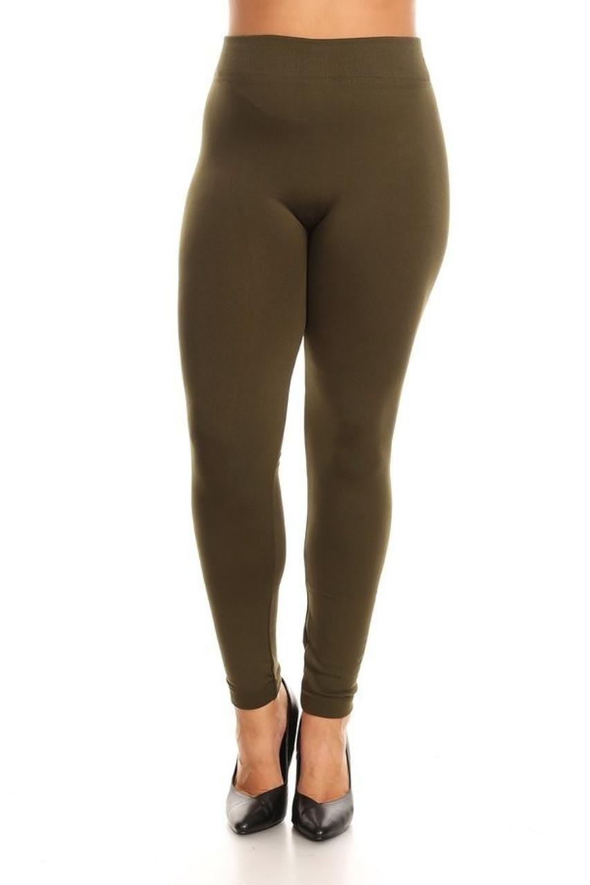 Plus Size Fleece Lined Leggings