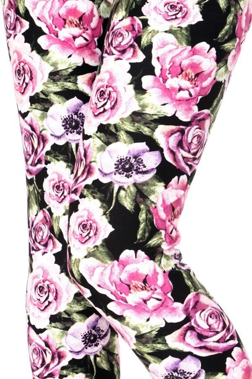 California Pink Rose Leggings