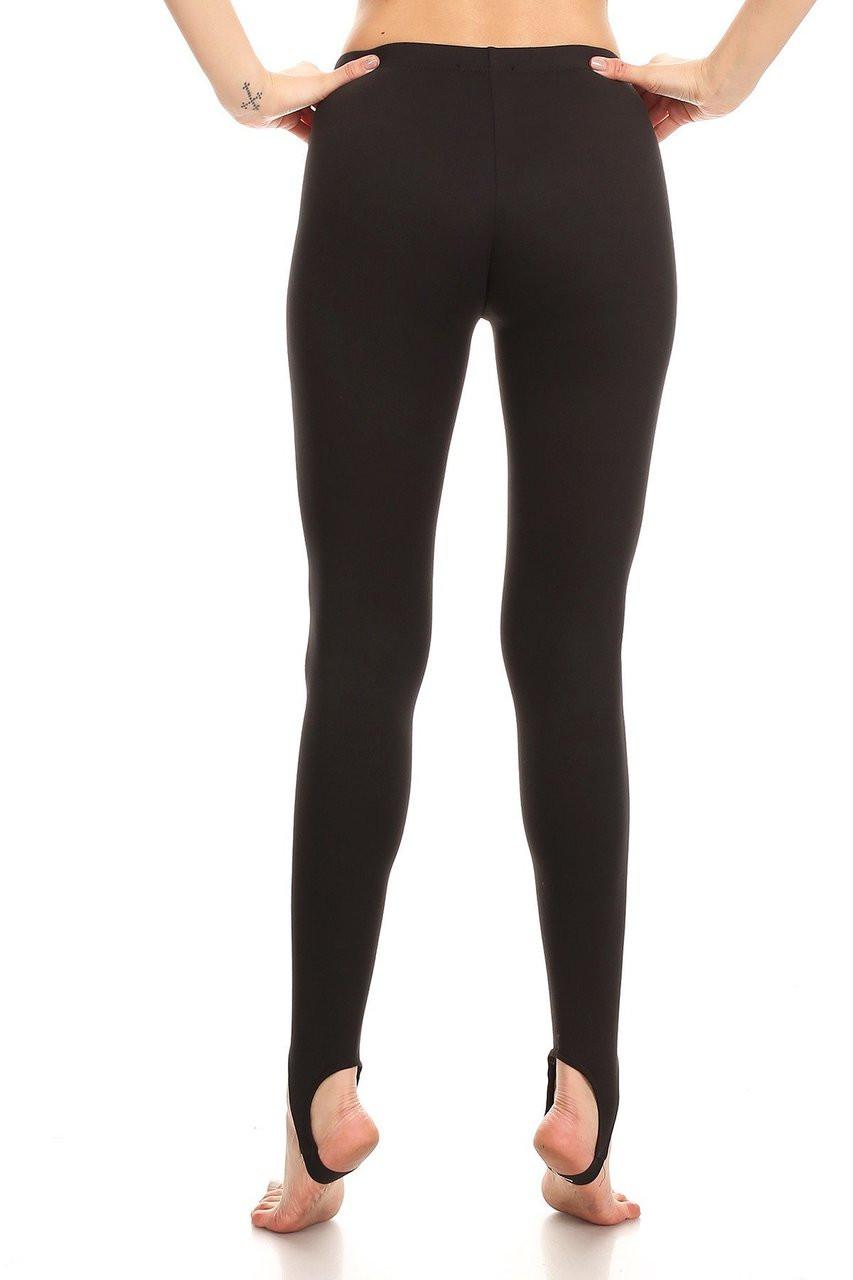 Back image of Black Sport Stirrup Leggings