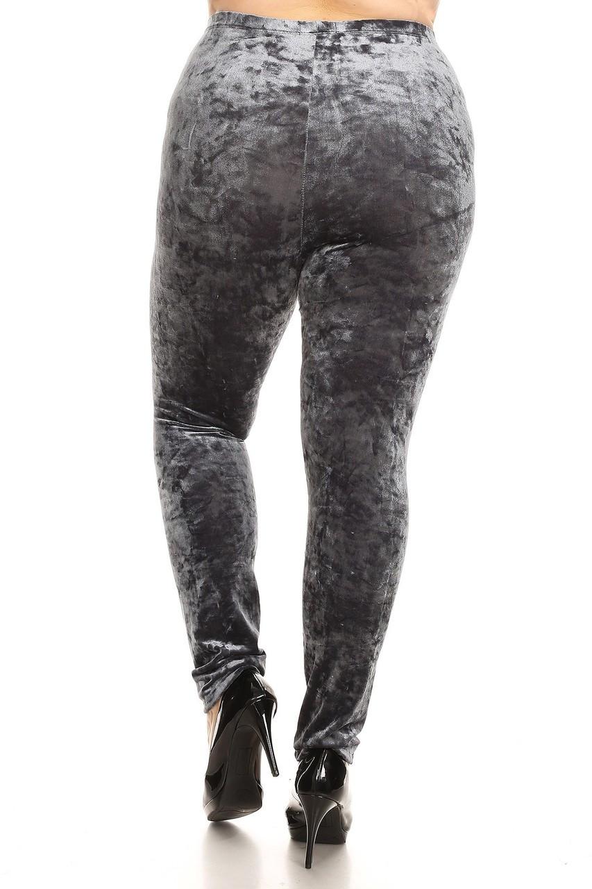 Crushed Velvet Plus Size Leggings