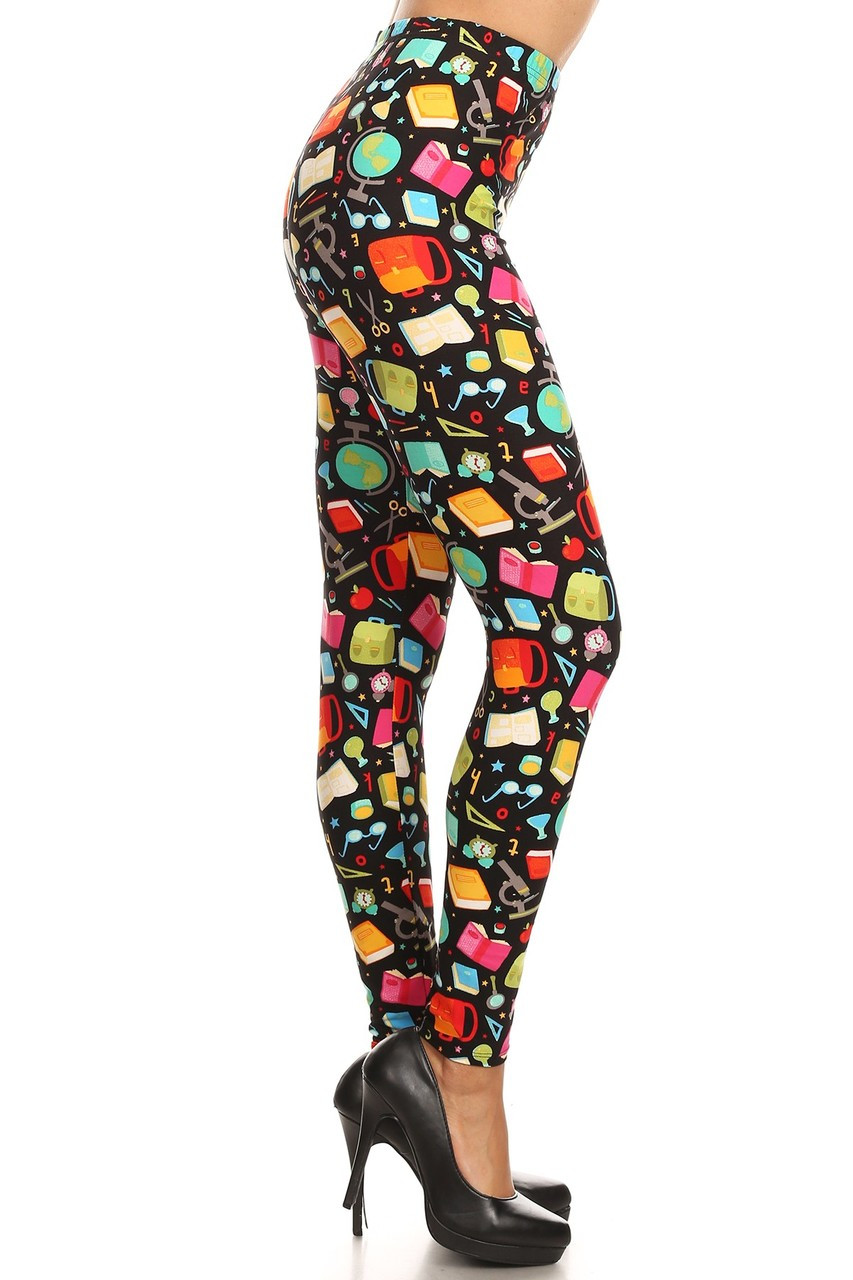 Colorful Student Plus Size Leggings - 3X-5X