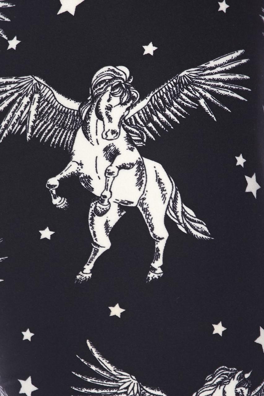 Buttery soft Magical Pegasus Plus Size Leggings - 3X-5X