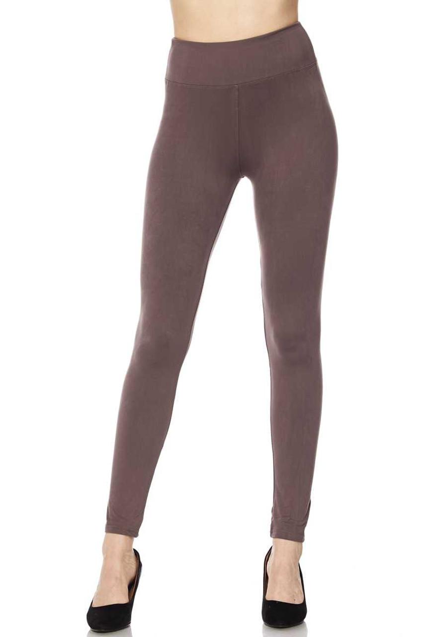 Buttery Soft High Waisted Basic Solid Leggings - 3 Inch Waist