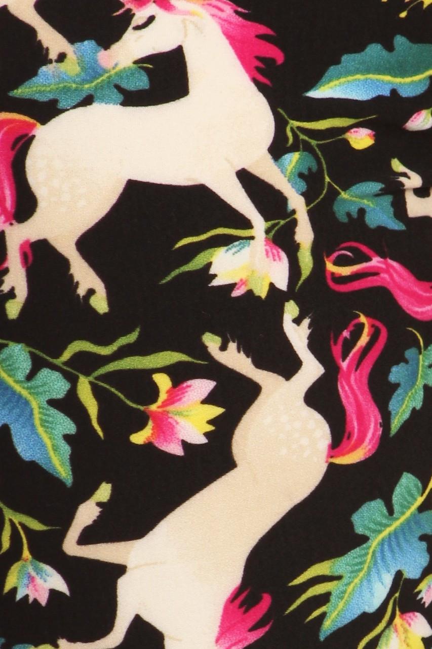 Buttery Soft Woodland Unicorn Plus Size Leggings - Small Unicorns