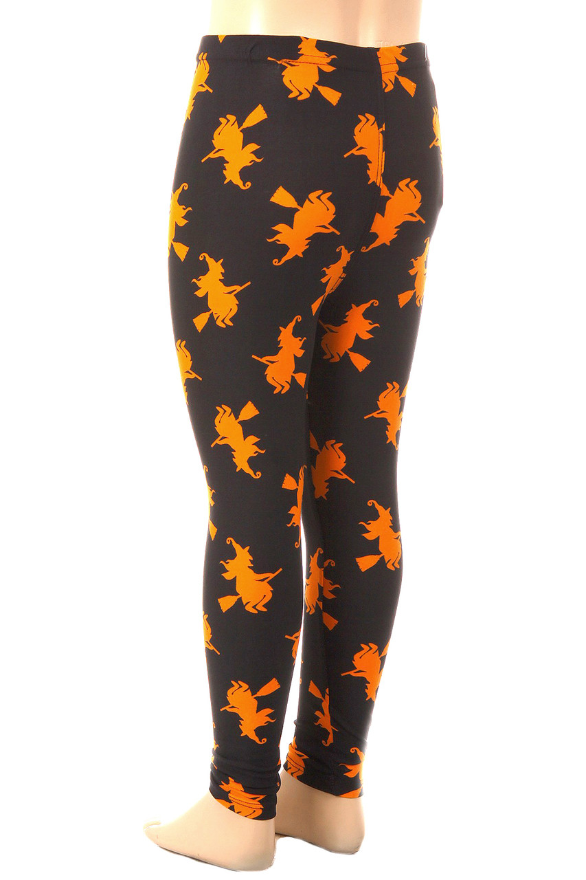 Buttery Soft Broomstick Witches Kids Leggings