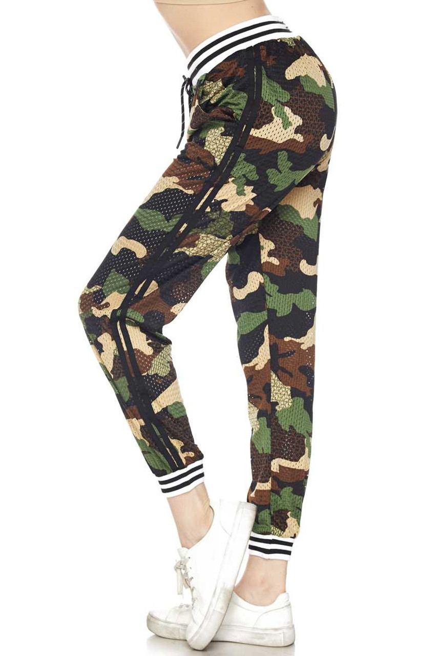 Premium Street Ready Perforated Camouflage Joggers