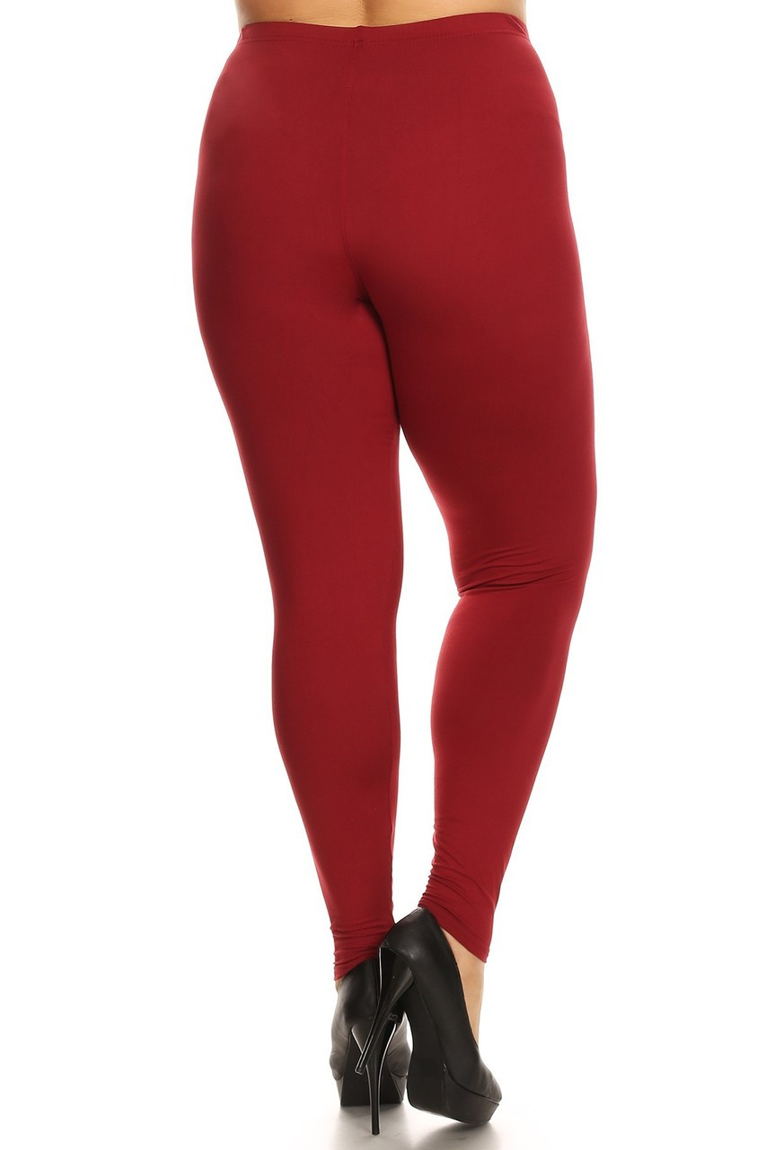 Buttery Soft Basic Solid Leggings Plus Size - 3X-5X