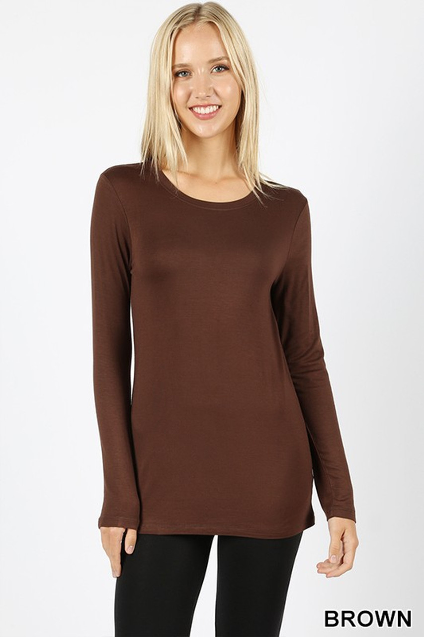 Premium Round Neck Long Sleeve Rayon Top