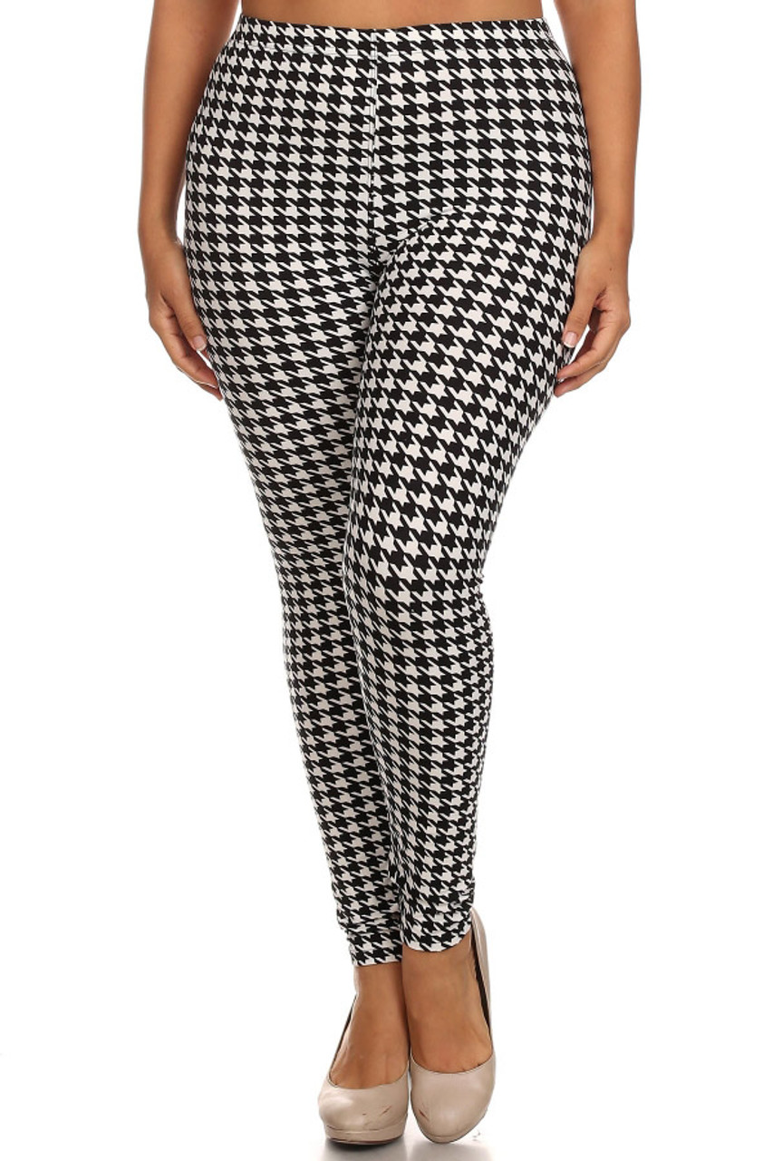 Houndstooth Plus Size Leggings