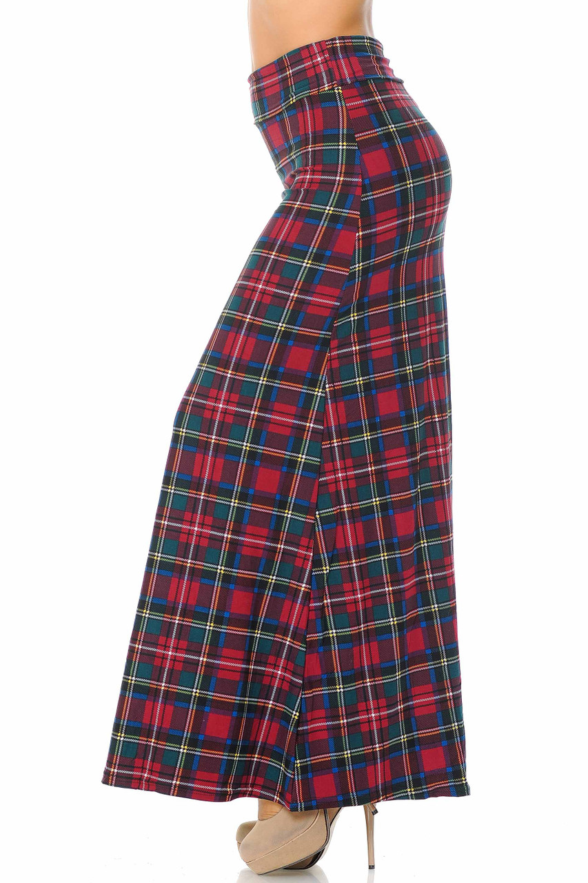Buttery Soft Modish Plaid Maxi Skirt