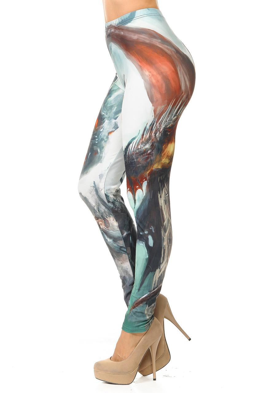 Creamy Soft Feral Dragons Plus Size Leggings