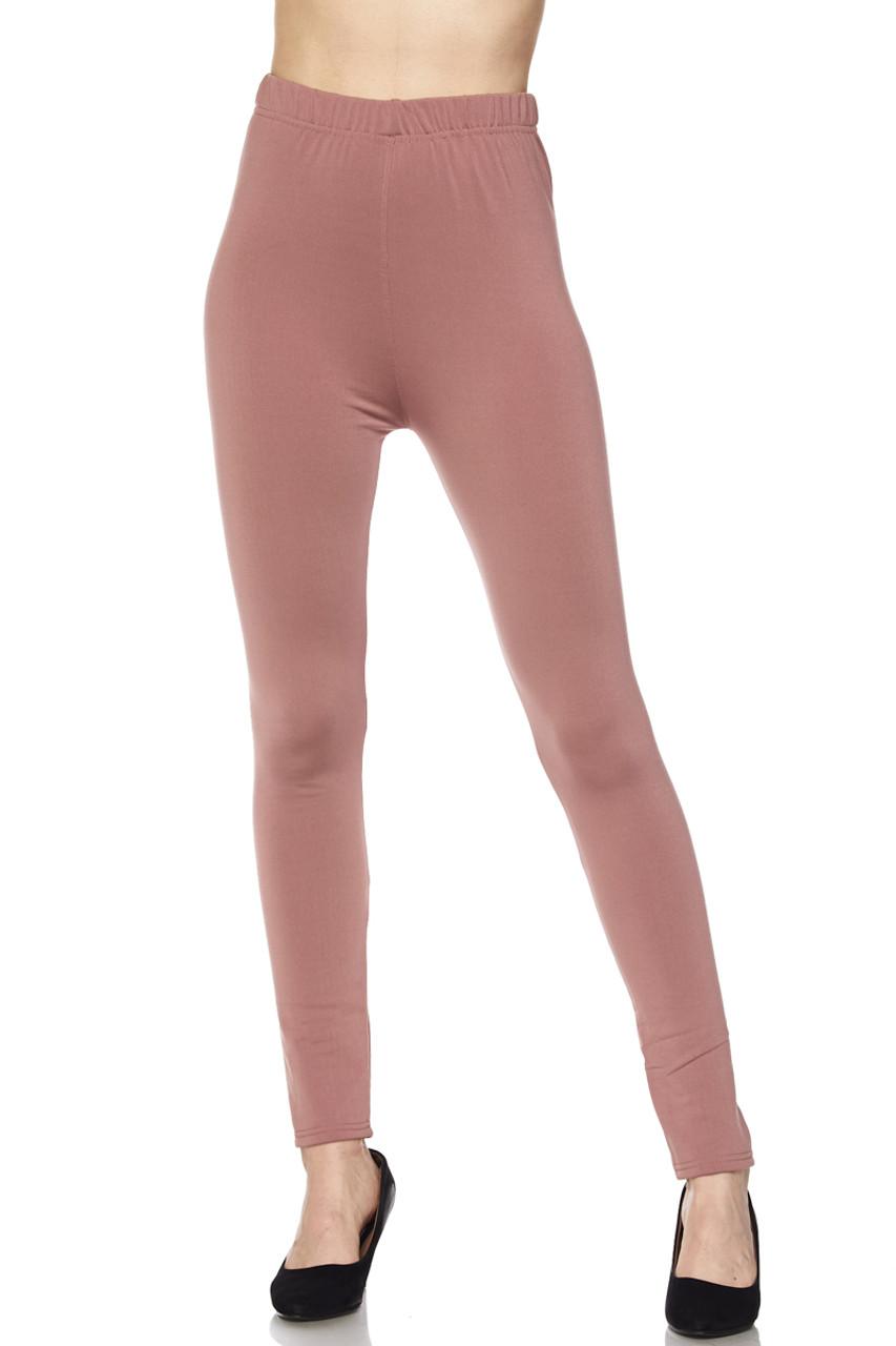 Fleece Lined Solid Leggings