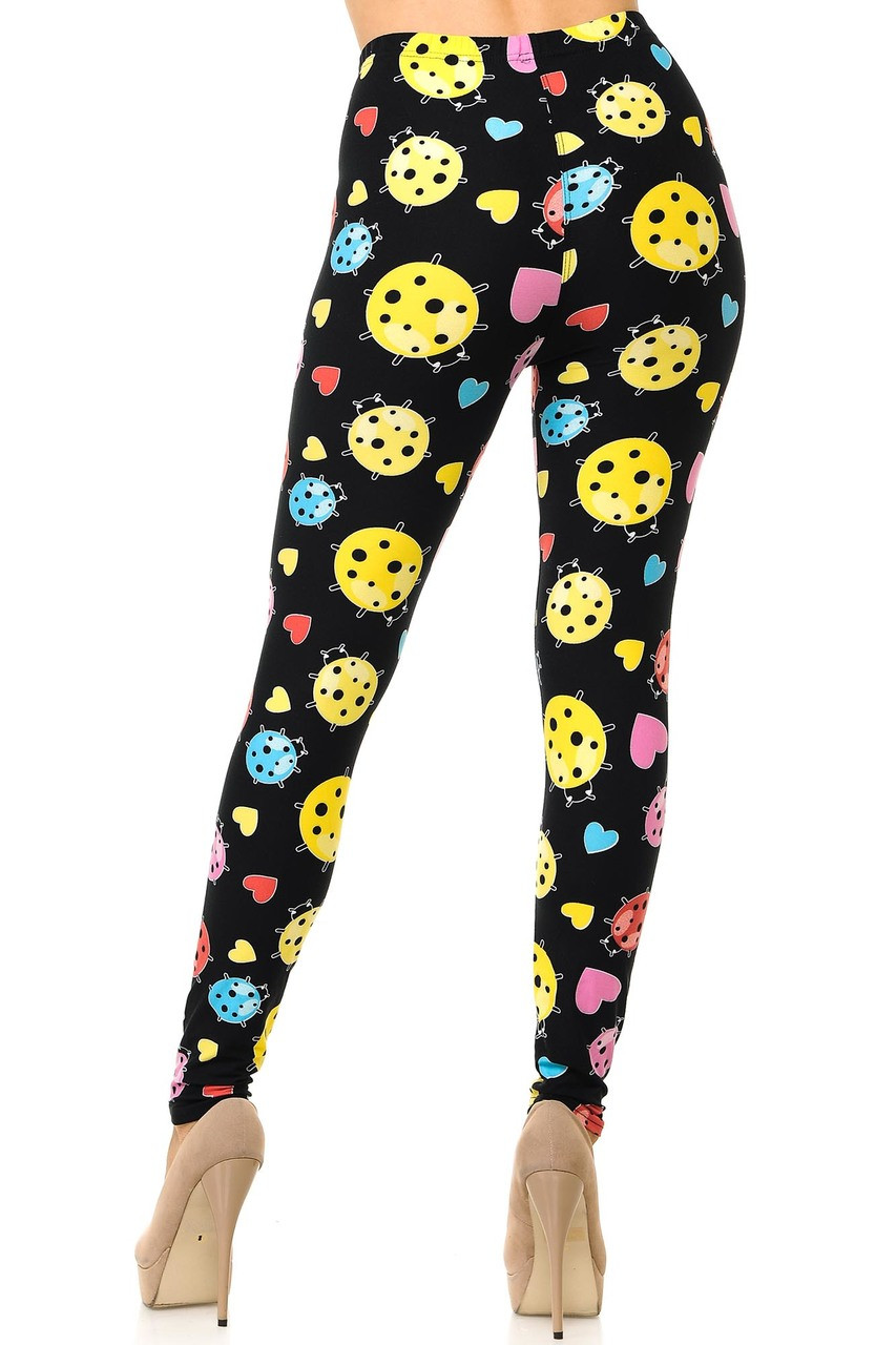 Buttery Soft Ladybugs and Hearts Plus Size Leggings