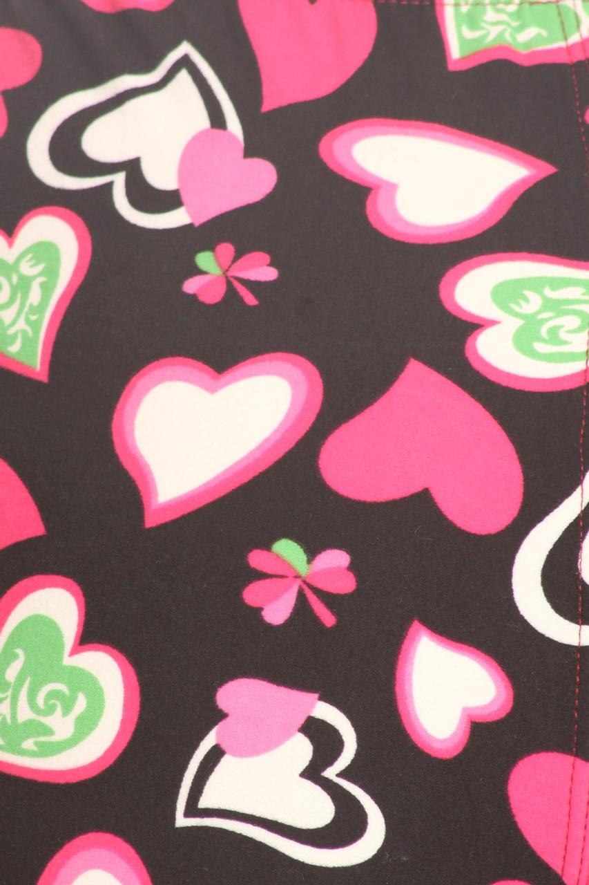 Buttery Soft Cute Valentine Hearts Leggings