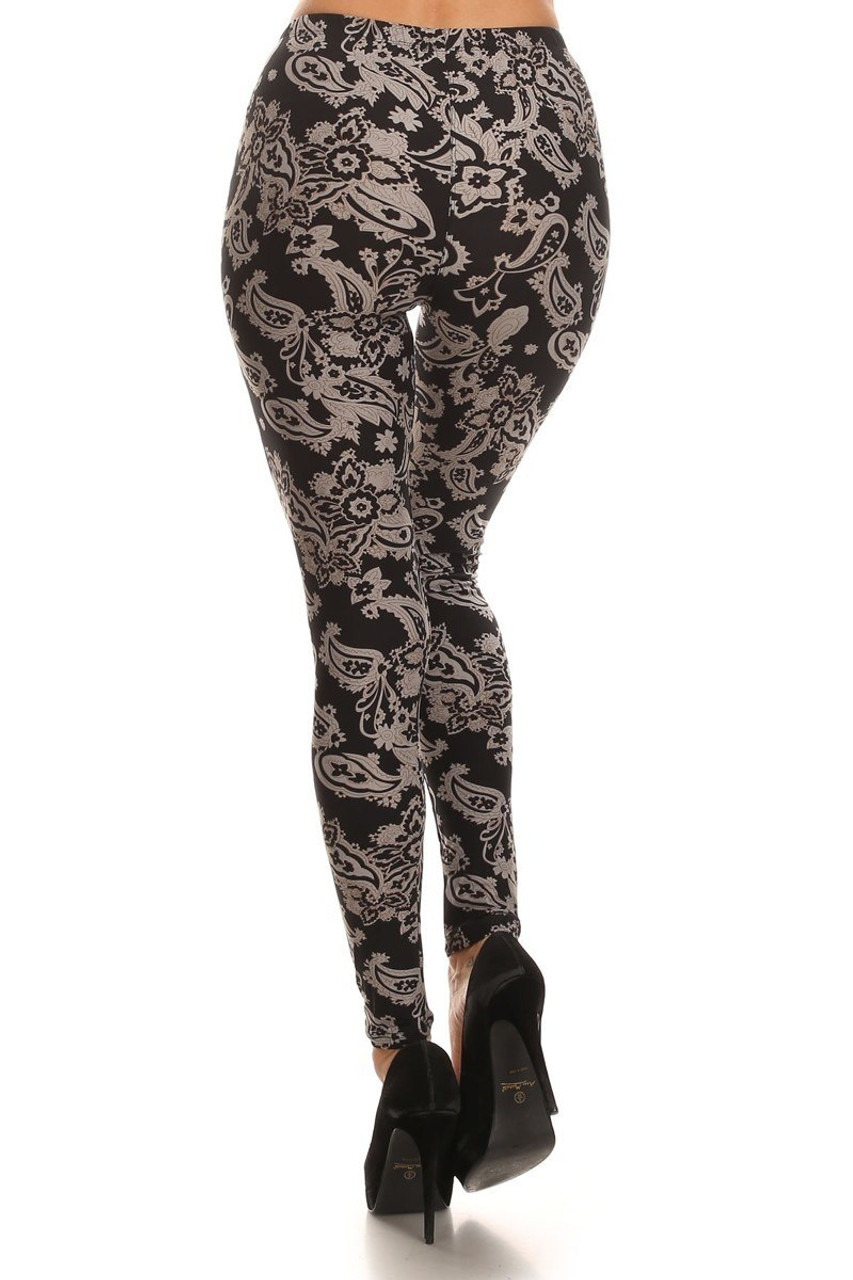 Buttery Soft Champagne Paisley Leggings