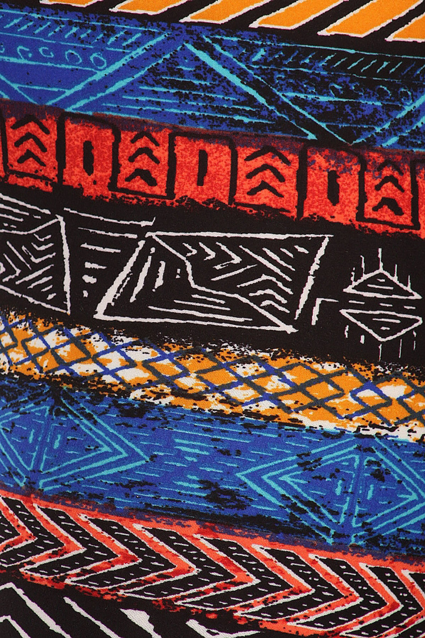 Buttery Soft Tulum Tribal Plus Size Leggings