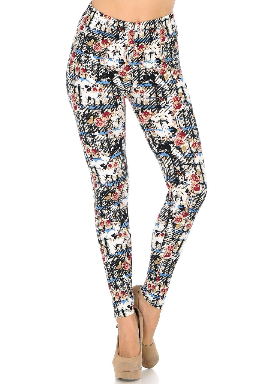 Buttery Soft Scratch Floral Leggings