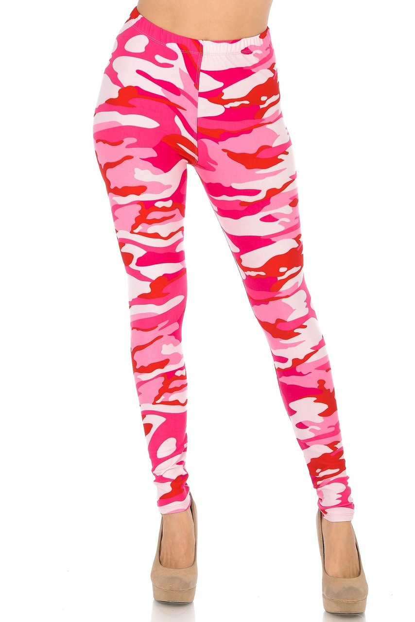 Buttery Soft Pink Camouflage Leggings