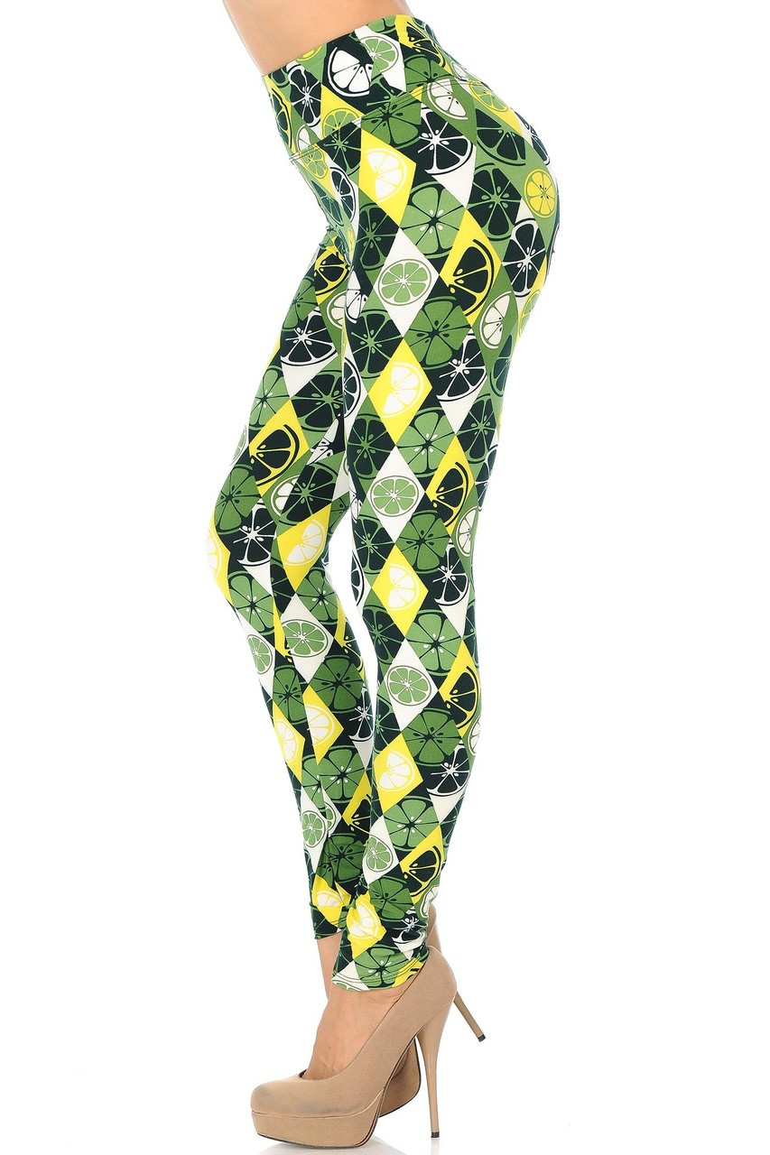 Buttery Soft Luck of the Irish Lime High Waisted Leggings