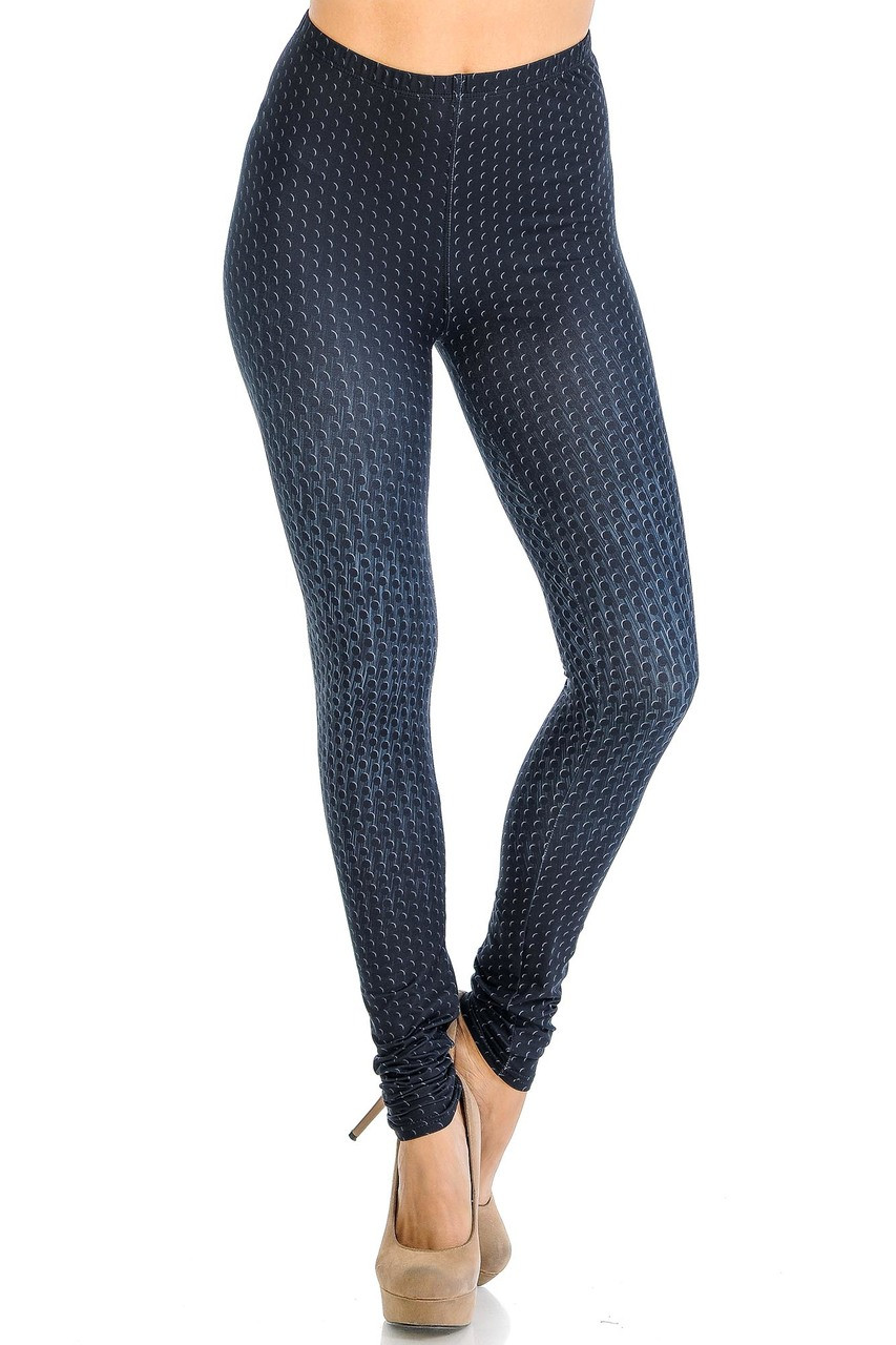 Creamy Soft Textured Dots Leggings - Signature Collection