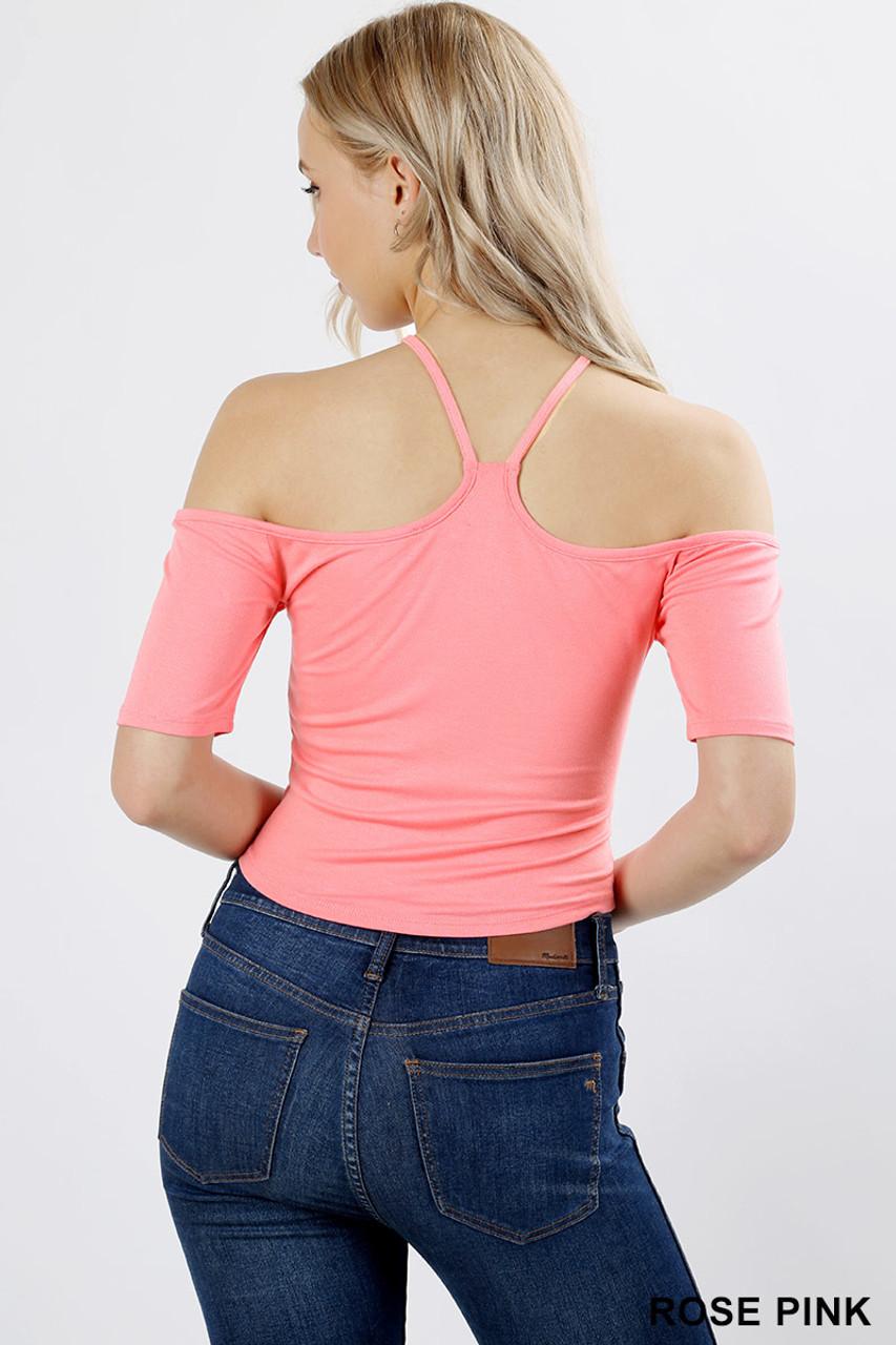 Short Sleeve Off Shoulder Rayon Top