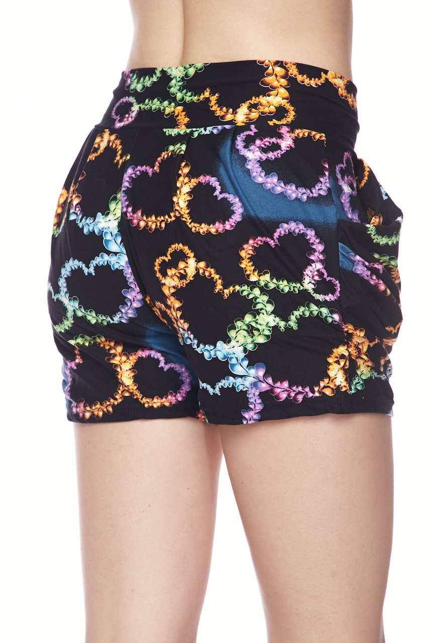 Buttery Soft Blooming Neon Hearts Shorts