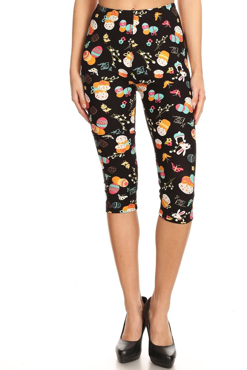 Buttery Soft Easter Extravaganza Plus Size  Capris