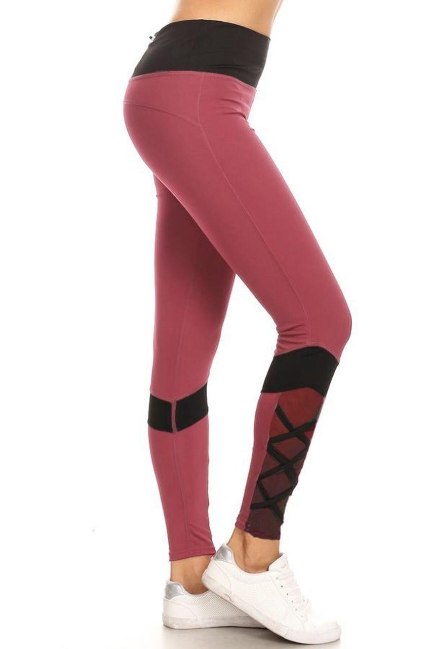 Sportsplex Ankle Crisscross Workout Leggings