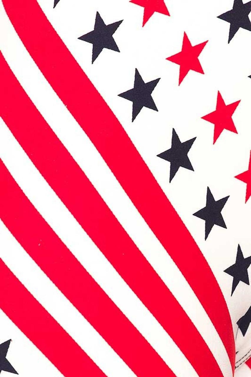 Buttery Soft Twirling USA Flag Leggings