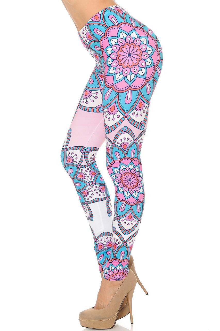 Brushed Graphic Print Flatter Mandala Leggings
