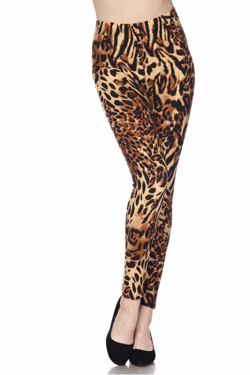 Buttery Soft Predator Leopard Plus Size Leggings