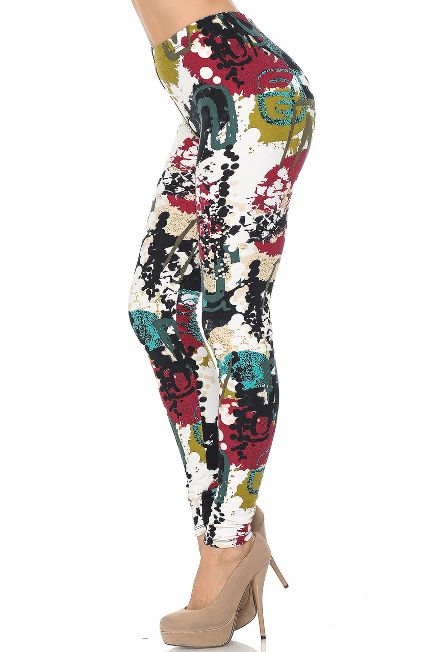 Buttery Soft Summer Picasso Leggings