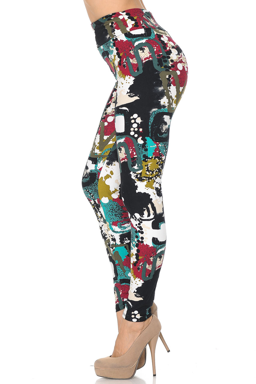 Buttery Soft Summer Picasso High Waisted Leggings