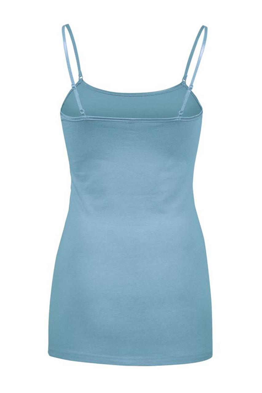 Adjustable Strap Cotton Camisole - 33 Inch