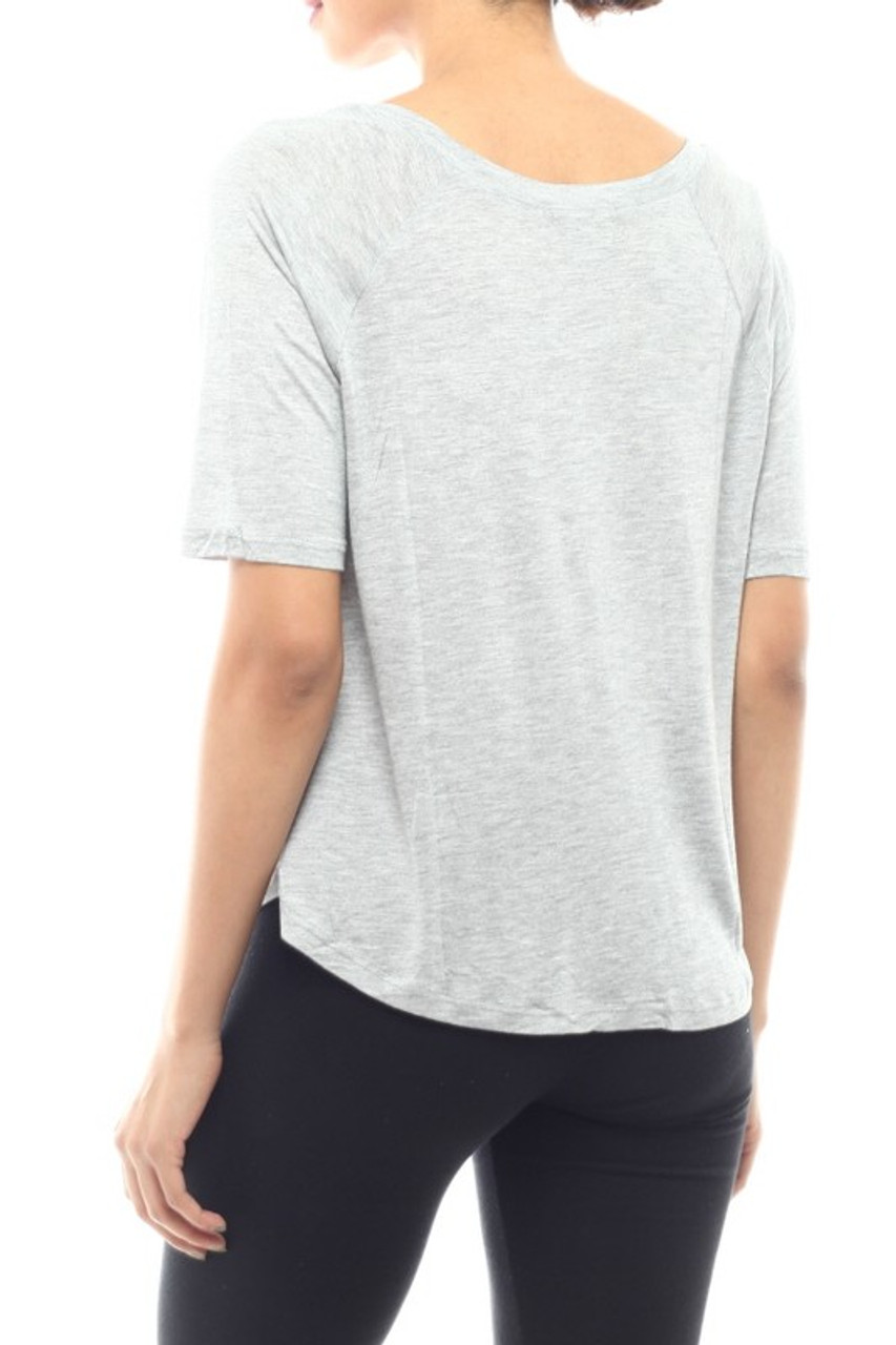 Light Weight Round Neck Street Savvy Solid T-Shirt