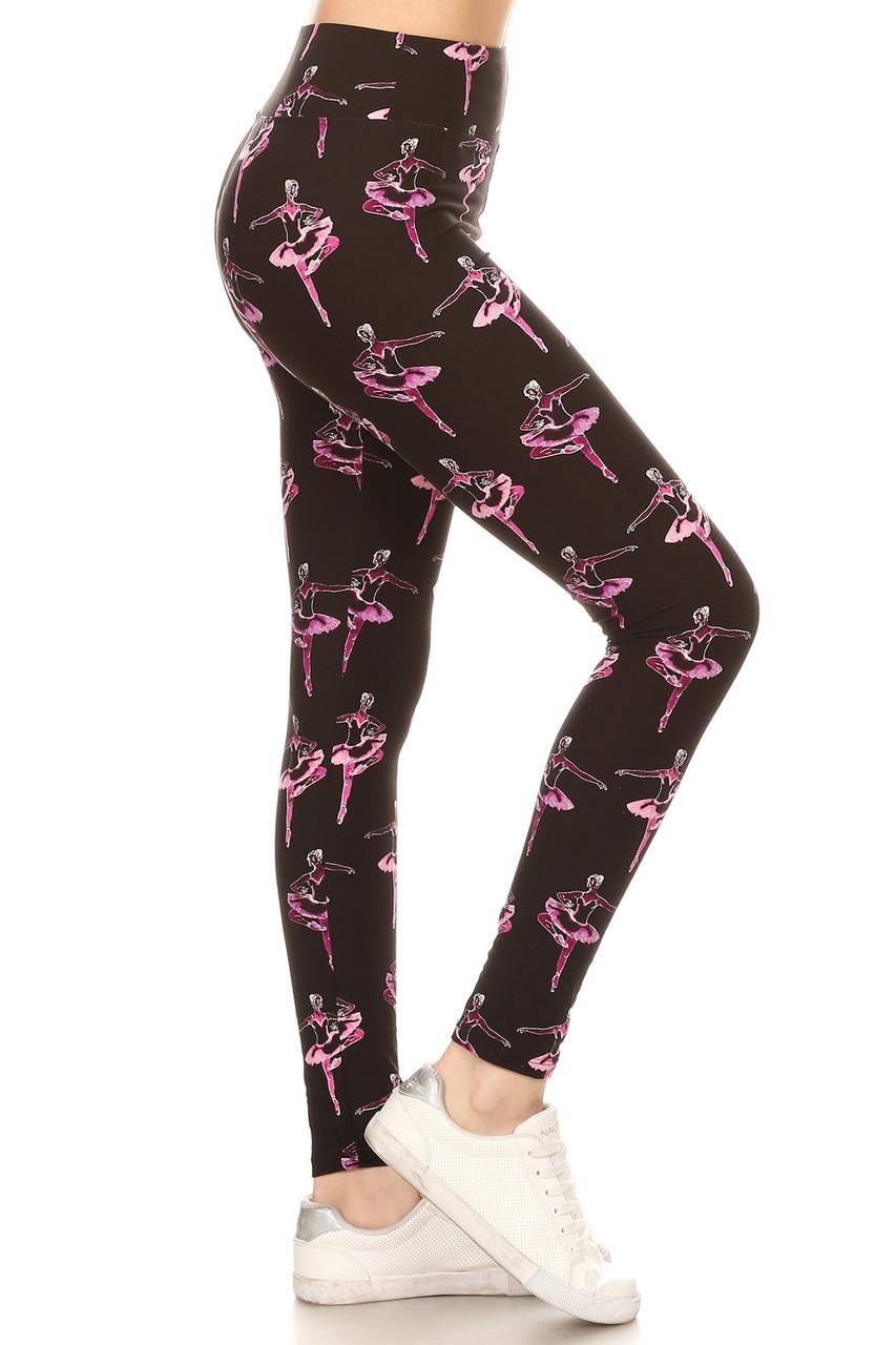 Buttery Soft Ballerina Plus Size High Waisted Leggings